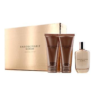 Sean John Unforgivable Coffret: Parfum Spray 125ml/4.2oz + Body Lotion 100ml/3.4oz + Shower Gel 100ml/3.4oz 3pcs