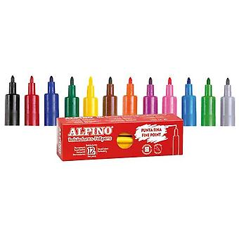 Alpino Box 12 pens Black (Kids , School supplies , Writting and coloring , To colour)