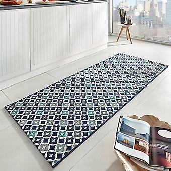 Kitchen runner flat fabric runner Reflect Blau 80 x 200 cm