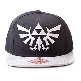Nintendo Legend of Zelda Twilight Princess Embroidered Royal Crest Logo Unisex Snapback Baseball Cap, One Size, Black/Grey (BA180123NTN)