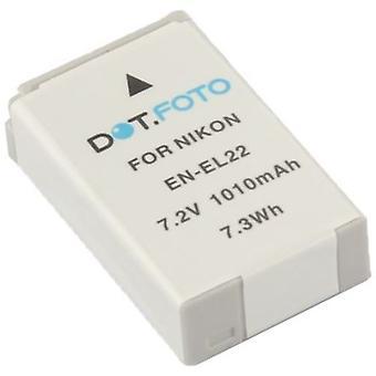 Dot.Foto Nikon EN-EL22 batteri - 7.2V / 1010mAh