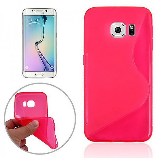 S-line silicone case Pink for Samsung Galaxy S6 edge G925 G925F