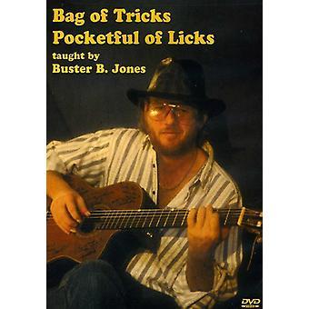 Jones, Buster B. - taske af Tricks Pocketful af Licks [DVD] USA import