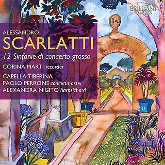 Corina Marti - Alessandro Scarlatti: 12 Sinfonie Di Concerto Grosso [CD] USA importare