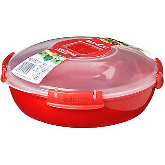 Sistema microondas redondo placa, rojo 1.3 litros