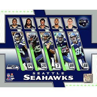 Seattle Seahawks 2017 zespół złożony Photo Print
