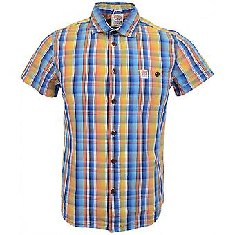 Franklin & Marshall Hollywood Short Sleeve Sunset Check Multi Colour Shirt