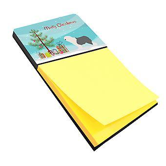 Old English Sheepdog Bobtail Christmas Sticky Note Holder