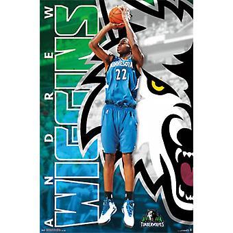Minnesota Timberwolves - een Wiggins 14 Poster Poster afdrukken
