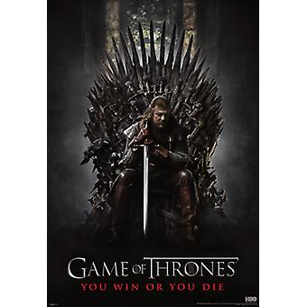 Spill av troner - jern tronen - veggmaleri plakat plakatutskrift