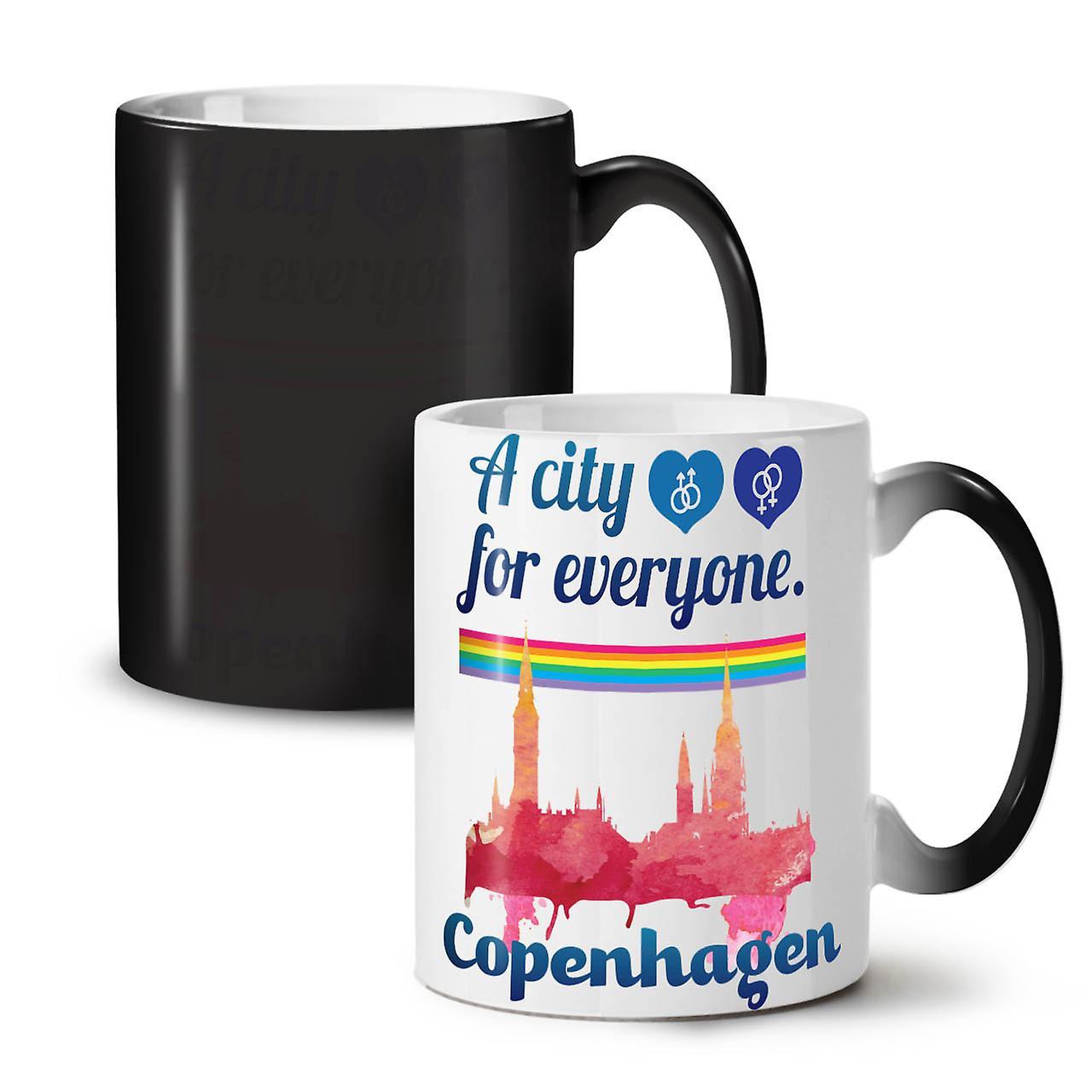 Fierté Gay OzWellcoda Café Copenhague Céramique Thé Tasse Nouvelle Changeant Couleur Noir 11 JTK1lcF