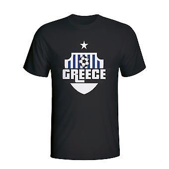 Grækenland land Logo T-shirt (sort) - børn