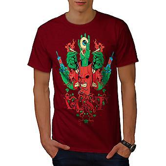 Dämon Zombie Eye Horror Männer RedT-Hemd   Wellcoda