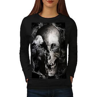 Ghost Metal Death Women BlackLong Sleeve T-shirt | Wellcoda