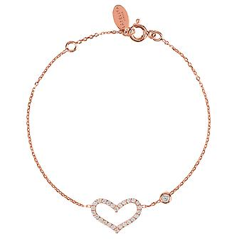 Latelita armband Love hart Delicate 925 Sterling Silver Rose Gold CZ