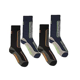 Storm Ridge Mens 2 Pack Ski Socks UK 7-11 Black & Blue