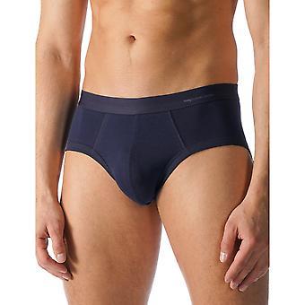 Mey 49112-668 Men's Casual Cotton Blue Solid Colour Brief