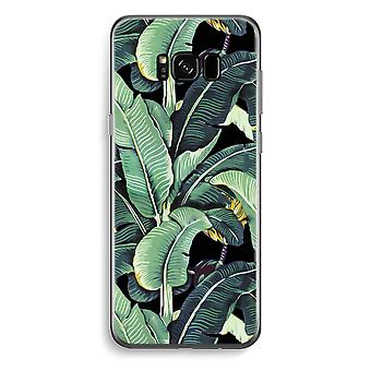 Samsung Galaxy S8 Transparent Case - Banana leaves