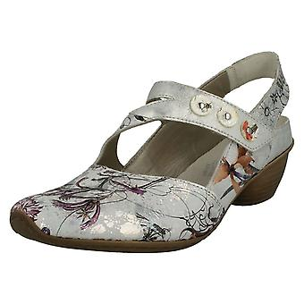 Ladies Rieker Heeled Slingback Shoes 43771