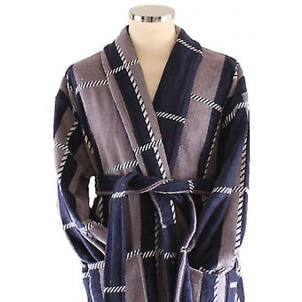 Bown of London Colorado Dressing Gown - Beige/Navy/White