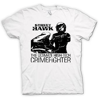 Mens T-shirt - Street Hawk - Bike - Crime Fighter