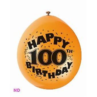 "Balloons HAPPY 100th BIRTHDAY 9"" Latex Balloons (10)"