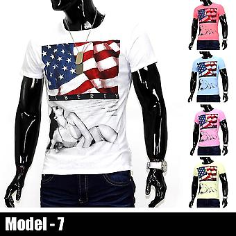 Men's America T-Shirt O-Neck Gaga US Polo Slim fit Ali Club Wear USA Shirt Eagle