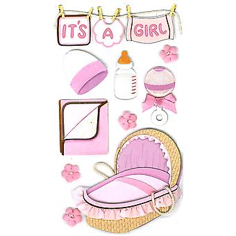 Jolee's Boutique Dimensional Stickers-Baby Girl