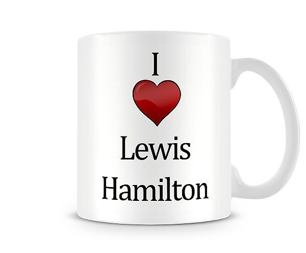 Jeg elsker Lewis Hamilton trykte krus