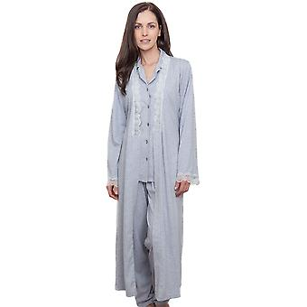 Cyberjammies 1290 Frauen Nora Rose Ava grau Morgenmantel Loungewear Robe Bademantel