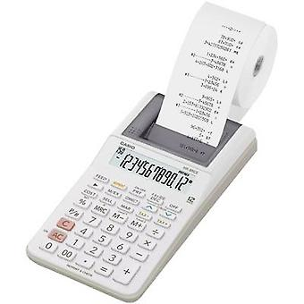 Casio HR-8REC Calculator with built-in printer White Display (digits): 12 battery-powered, mains-powered (optional) (W x H x D) 102 x 42 x 209 mm