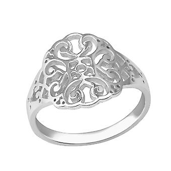 Patterned - 925 Sterling Silver Plain Rings - W37988x