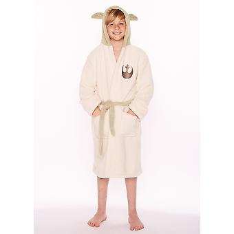 Official Star Wars Yoda Childrens Hooded Dressing Gown / Bathrobe