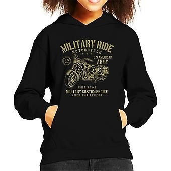 Militärische Fahrt Armee Motorrad Kinder Sweatshirt mit Kapuze