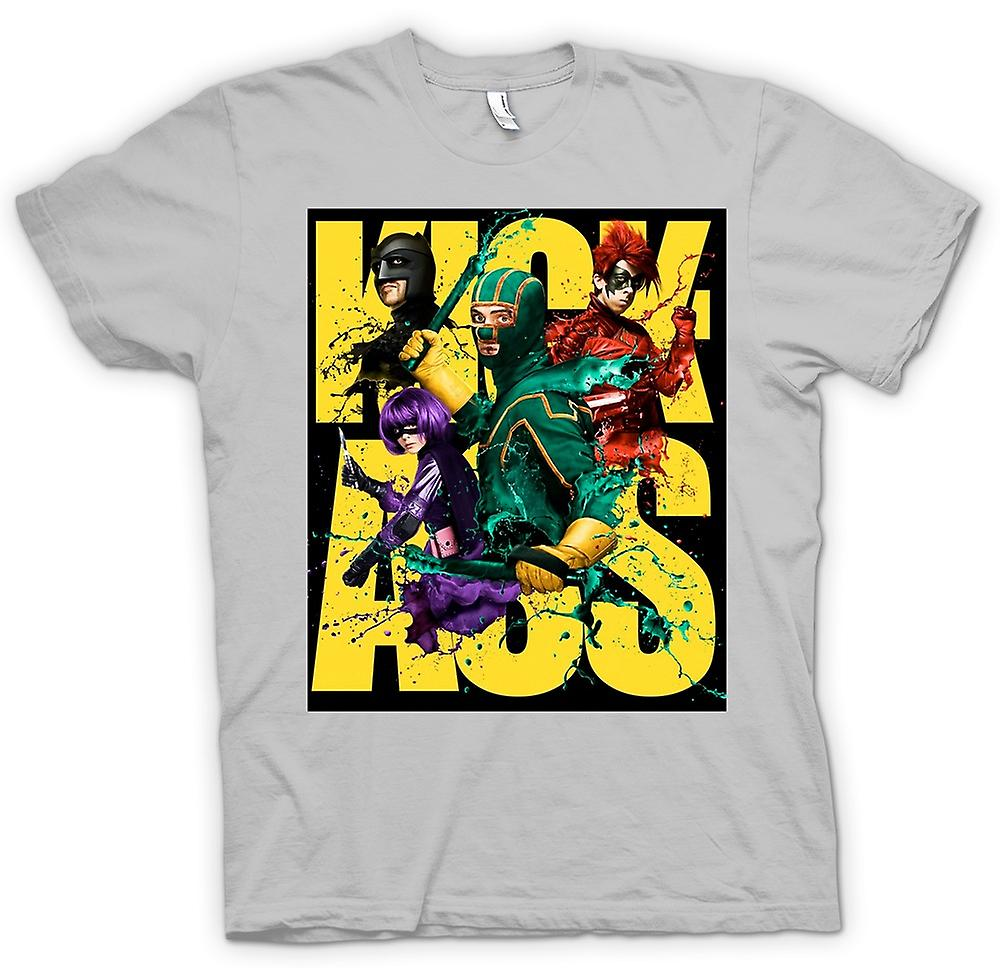 Heren T-shirt-Kick Ass Super held - B-Movie - Poster