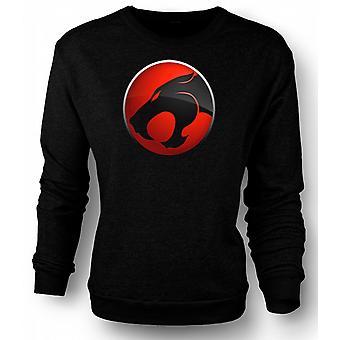 Mens Sweatshirt Thundercats Red / Black Logo