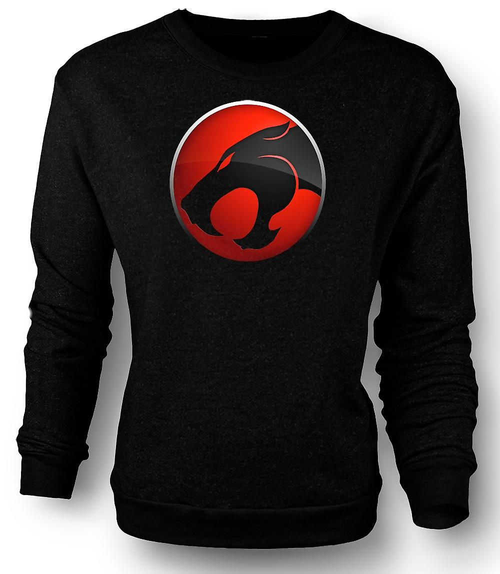 Mens Sweatshirt Thundercats Red / Black Logo