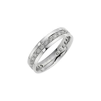 Star Wedding Rings 9ct White Gold 0.50 Carat Diamond Eternity 4.5mm Wedding Ring