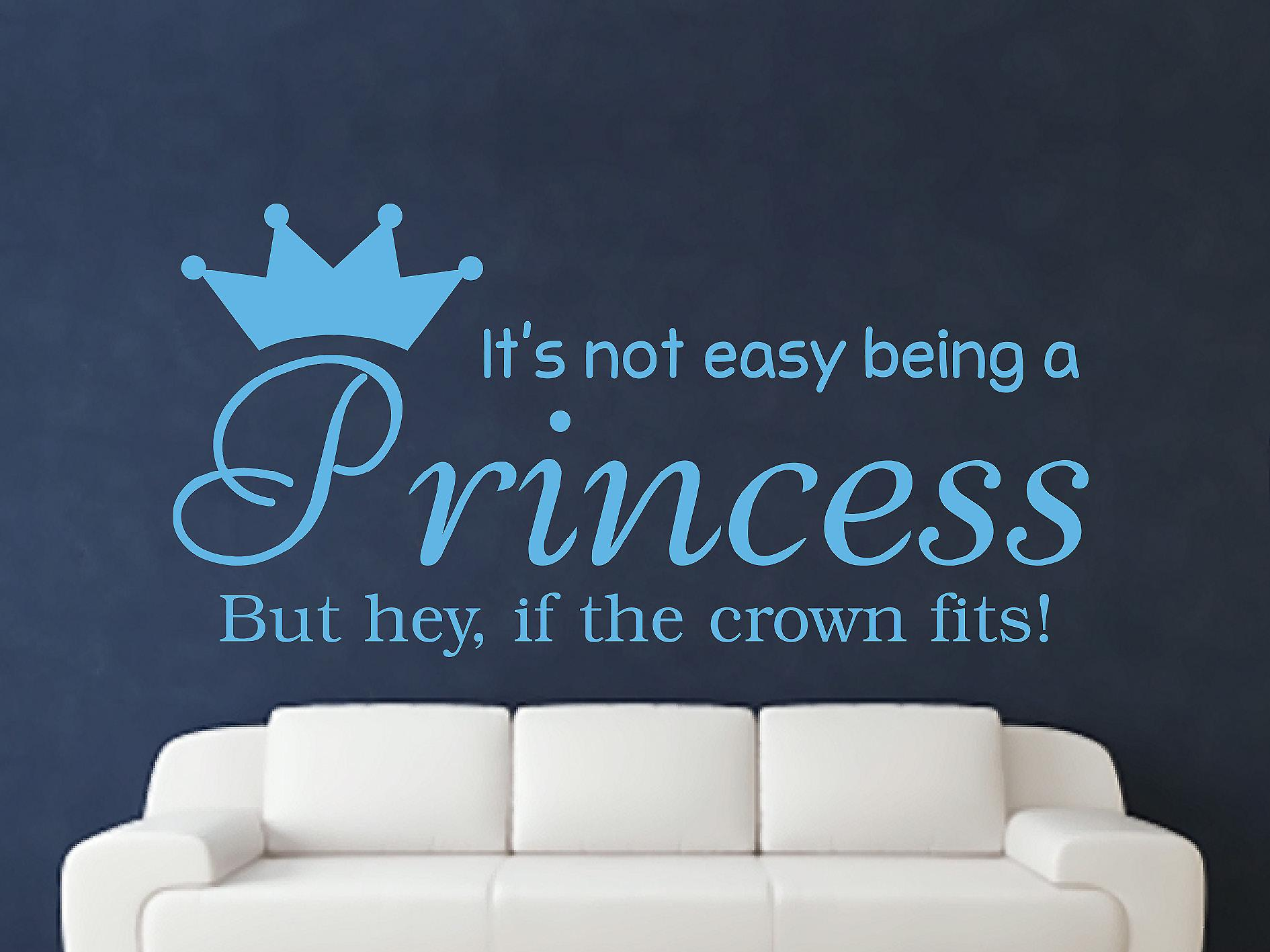 Essere una principessa Wall Art Sticker - blu artico