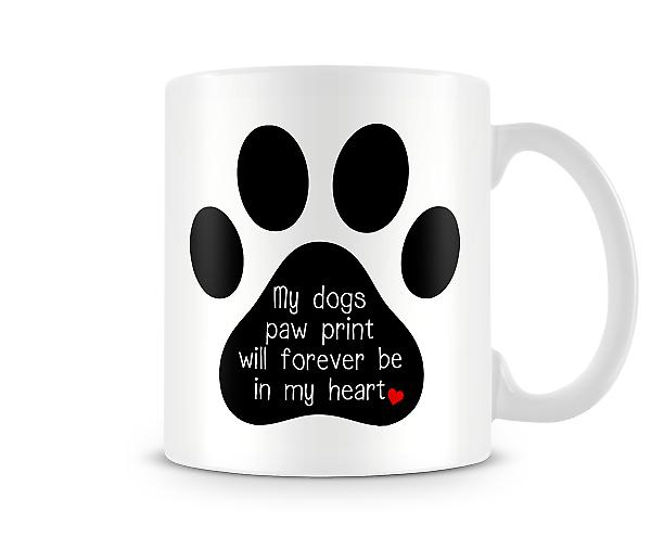 Decorative Writing My Dogs Paw Print Mug