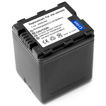 Hi-Capcity Battery for Panasonic VW-VBN260 VWVBN260 HDC-TM900K HDC-SD800K HDC-HS900K HDC-SD600K