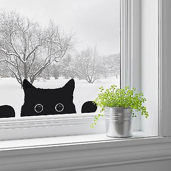 Peeping Cat Wall Sticker