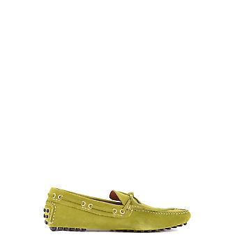 Car Shoe Green Suede Loafers