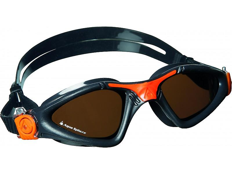 Aqua Sphere Kayenne Swim Goggle - Polarised Lenses - Grey/Orange