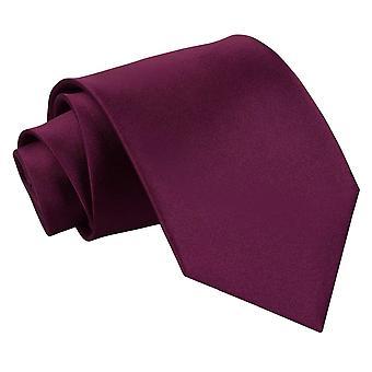 Blomme almindelig Satin ekstra lange slips