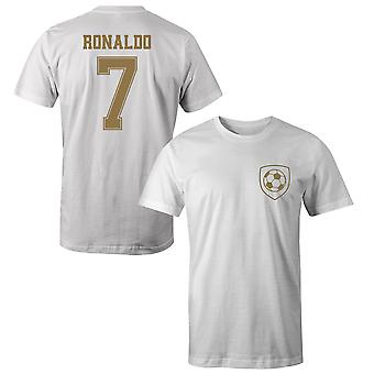 Cristiano Ronaldo 7 Real Madrid Style Player Kids T-Shirt