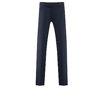 Dobell Mens Navy Trousers Regular Fit