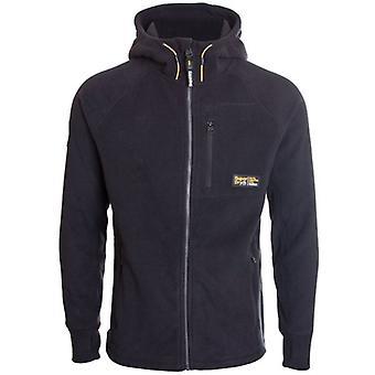 Superdry Polar Fleece Zip Hoodie Black