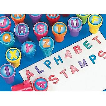 26 Letter Alphabet Self-Inking Stampers for Kids Crafts & Party Bags
