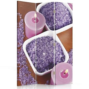Room Divider, 3 Panels, Single-Sided, Canvas, Candles